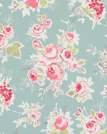 Studio G Rose Garden Aqua Curtains