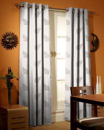 Tissu Luberon Feuille Brodee Beige Placement Stk Curtains