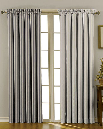 Tissu Native Stripe Indigo Curtains