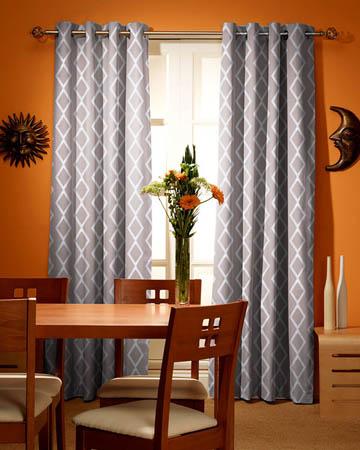 Tissu Origins Losange Blanc Gris Curtains