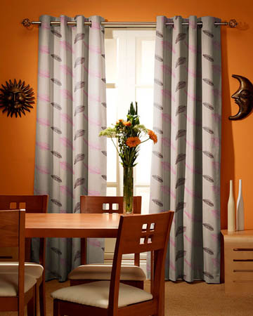 Tissu Origins Plume Prune Curtains