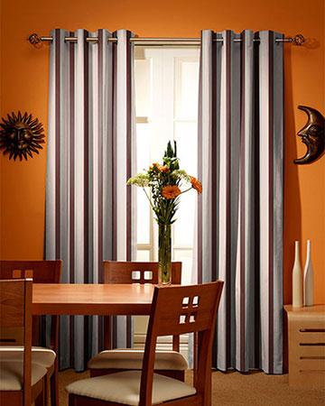 Tissu Wild Rayure Prune Curtains