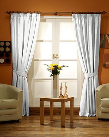 Tissus Berlin Damier Blanc Curtains
