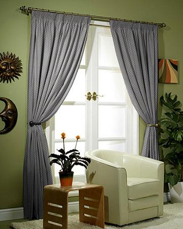 Tissus Berlin Damier Gris Curtains