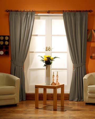 Vintage Linen Brown Curtains
