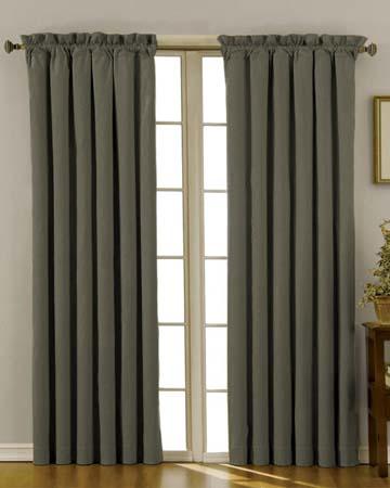 Vintage Linen Khaki Curtains