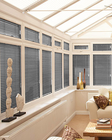 Neat Fit Charcoal Pleated Blinds