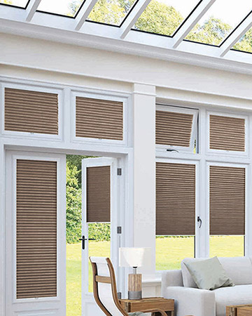 Neat Fit Chocolate Pleated Blinds