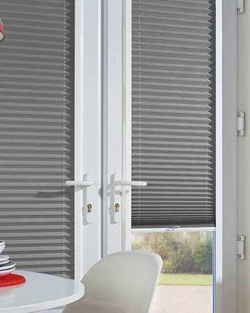 Neat Fit Concrete Pleated Blinds