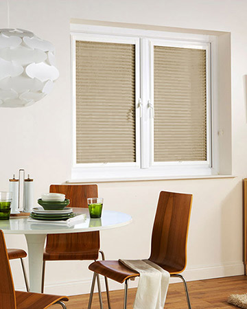 Neat Fit Duo Sand Pleated Blinds