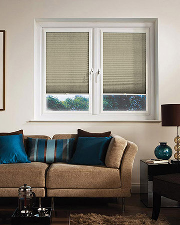 Neat Fit Honeycomb Cream Pleated Blinds