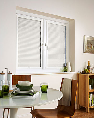 Neat Fit Honeycomb White Pleated Blinds