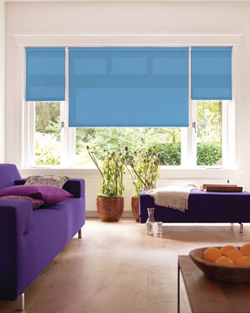 Eclipse Atlantex Blue Roller Blinds