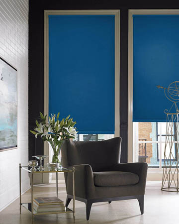 Eclipse Palette Atlantic Blue Roller Blinds