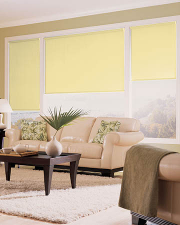 Eclipse Palette Lemon Roller Blinds