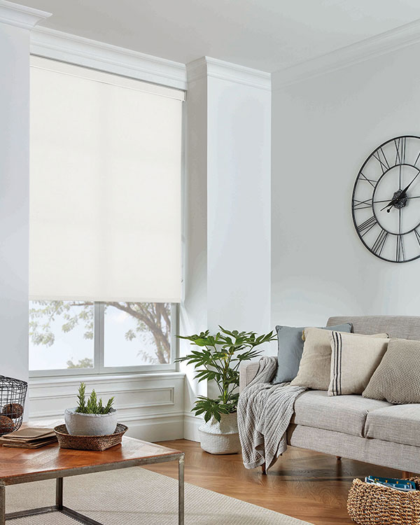 Eclipse Palette White Roller Blinds