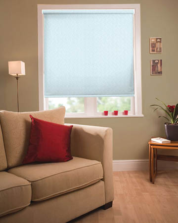 Louvolite Aura Ice Blue Roller Blinds