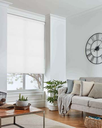 Louvolite Basix White Roller Blinds