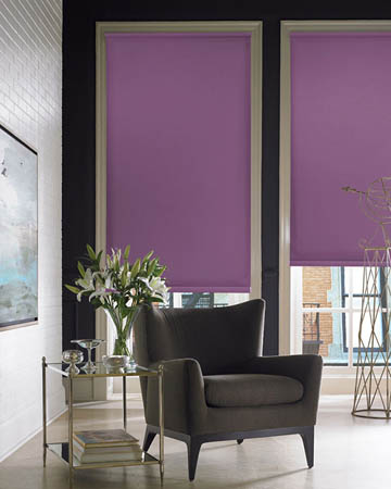 Louvolite Carnival Purple Roller Blinds