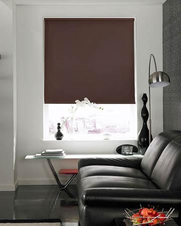Louvolite Colourtex Chocolate Roller Blinds