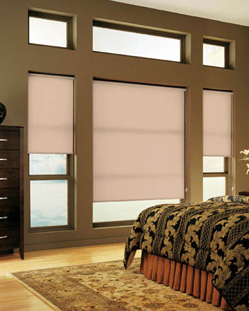Louvolite Colourtex Toffee Roller Blinds