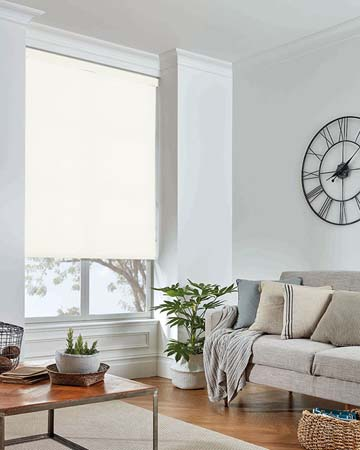 Louvolite Daybreak White Roller Blinds