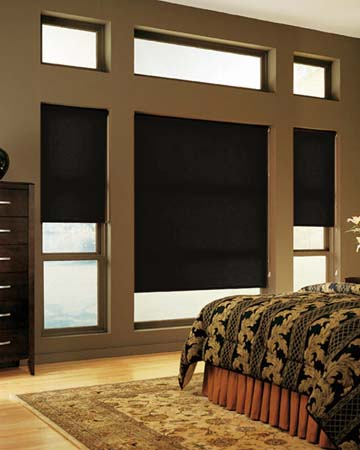 Louvolite Perspective Black Iron Roller Blinds