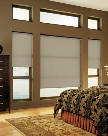 Louvolite Reflection Silver Grey Roller Blinds