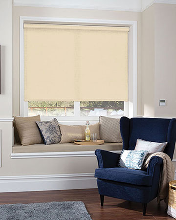 Louvolite Ritz Jasmine White Roller Blinds