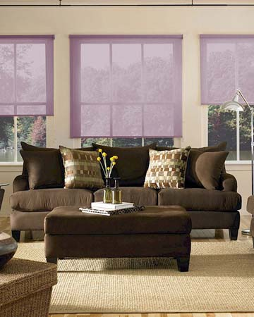 Louvolite Voile Grape Roller Blinds