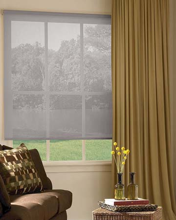 Louvolite Voile Moondust Roller Blinds