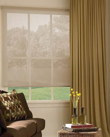 Louvolite Voile Papaya Roller Blinds