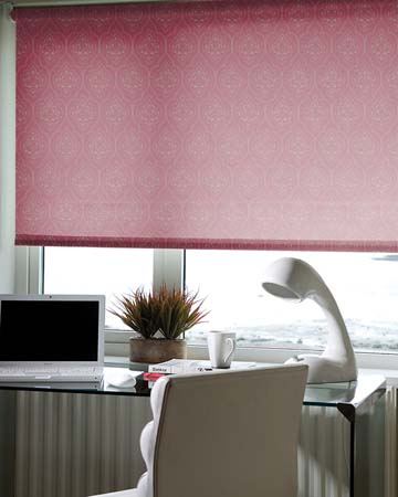 Louvolite Zadie Pomegranate Roller Blinds