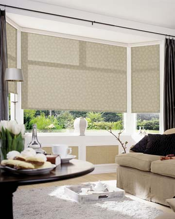Louvolite Zeta Antique Gold Roller Blinds