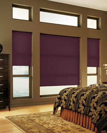 Plain Amaranth Roller Blinds