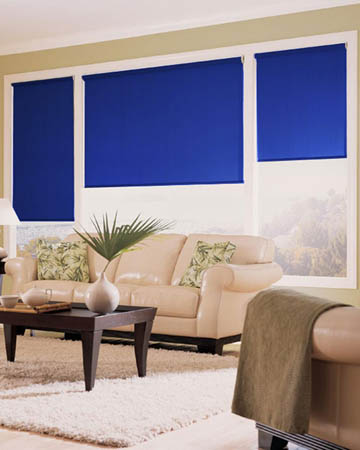 Olympian Blue Roller Blinds