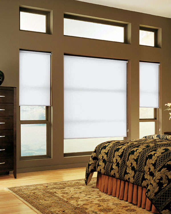plain white roller blinds simple and cheap. Black Bedroom Furniture Sets. Home Design Ideas