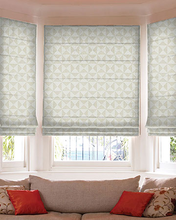 Clarke & Clarke Adisa Natural Roman Blinds