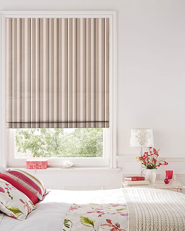 Clarke & Clarke Alawi Natural Roman Blinds