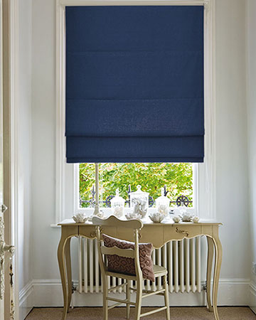 Clarke & Clarke Albany Midnight Roman Blinds