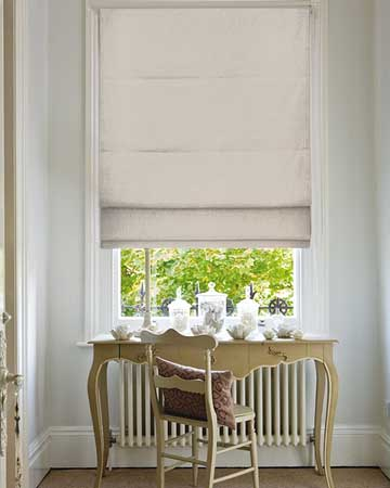 Clarke & Clarke Albany Natural Roman Blinds