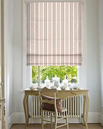 Clarke & Clarke Alderton Damson/Heather Roman Blinds
