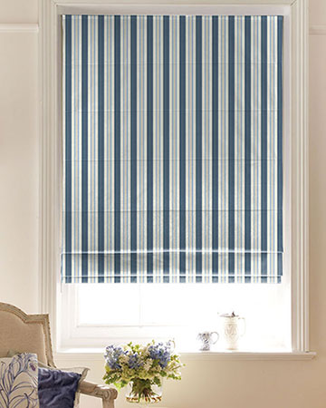 Clarke & Clarke Alderton Denim Roman Blinds