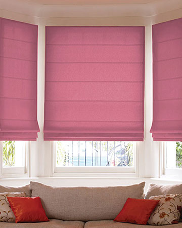Clarke & Clarke Angelo Berry Roman Blinds