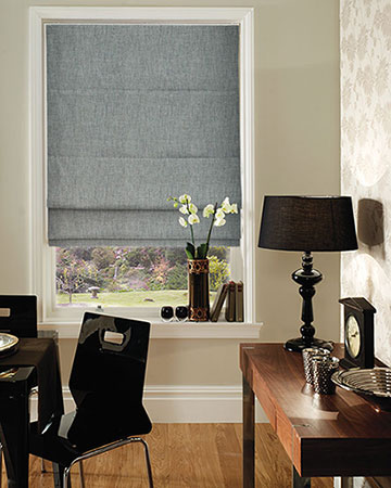 Clarke & Clarke Angelo Pewter Roman Blinds