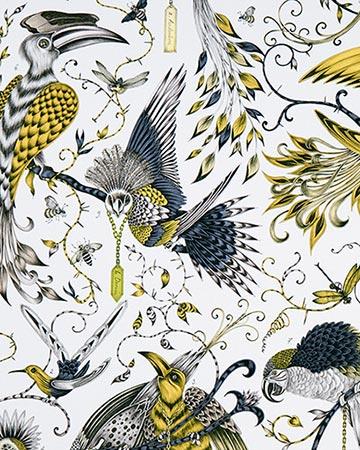 Clarke & Clarke Audubon Gold Roman Blinds