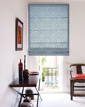 Clarke & Clarke Berkeley Denim Roman Blinds