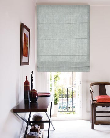 Clarke & Clarke Biarritz Seaspray Roman Blinds