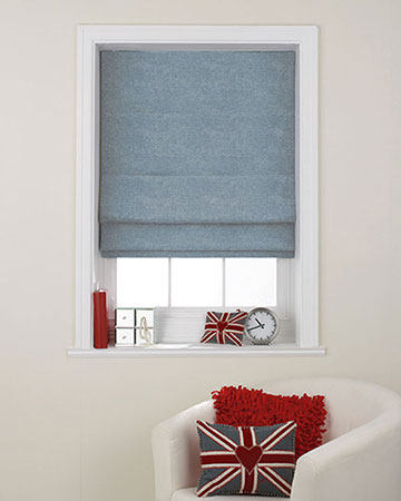 Clarke & Clarke Castilla Denim Roman Blinds