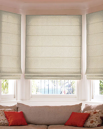 Clarke & Clarke Cesare Natural Roman Blinds